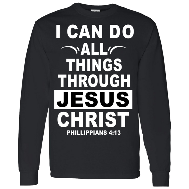 I Can Do All Thing Through Jesus Christ White Hoodie & Crewneck - Truly Devoted Streetwear
