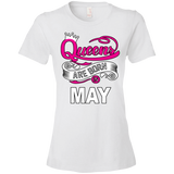 Queens Are Born In May Tshirt - Truly Devoted Streetwear