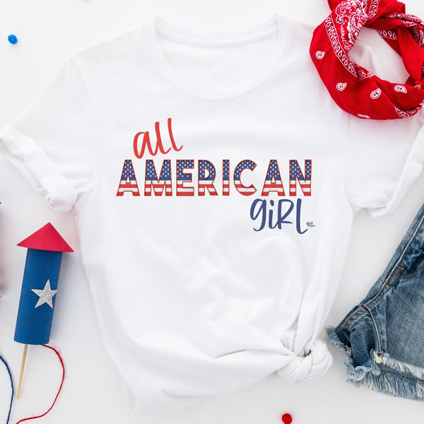 All American Girl July 4th Short Sleeve Tee