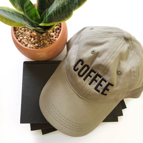 COFFEE Baseball Hat - Tan