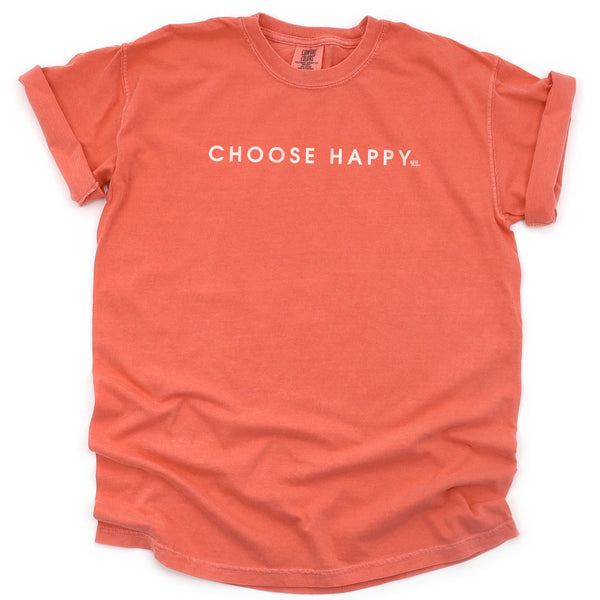 Choose Happy Comfort Colors Short Sleeve T-Shirt