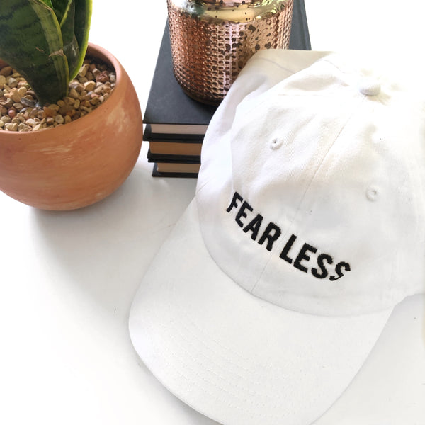 FEARLESS Baseball Hat - White