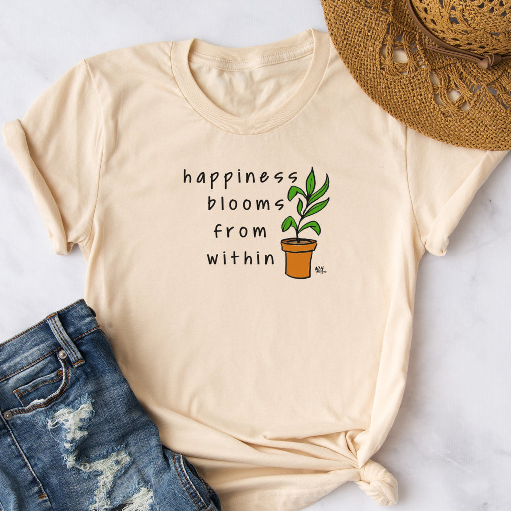 Happiness Blooms From Within Short Sleeve T-Shirt