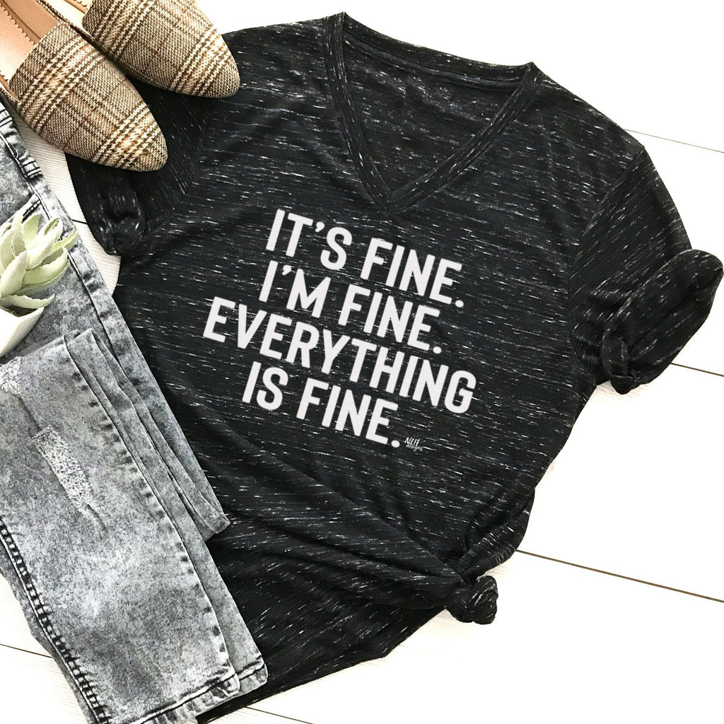 It's Fine I'm Fine Everything is Fine Short Sleeve T-Shirt