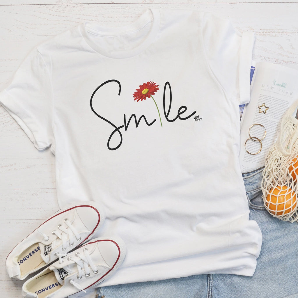 Smile Daisy Short Sleeve T-Shirt