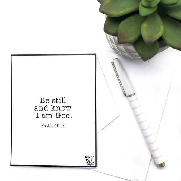 Be still and know I am God Notecard