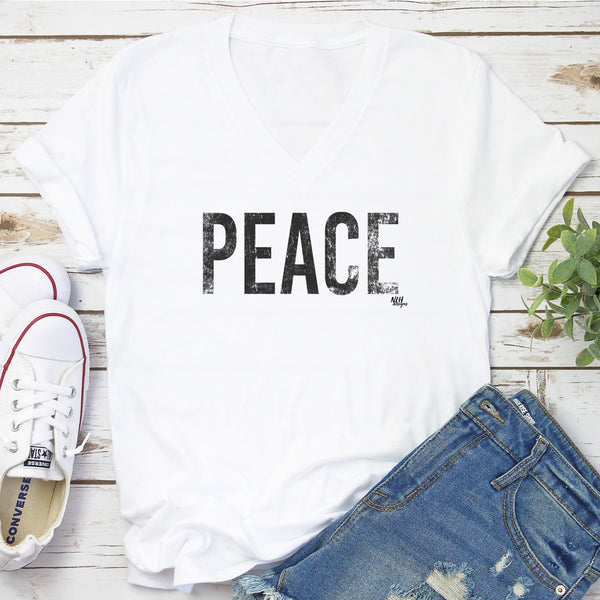 PEACE Short Sleeve T-Shirt - White