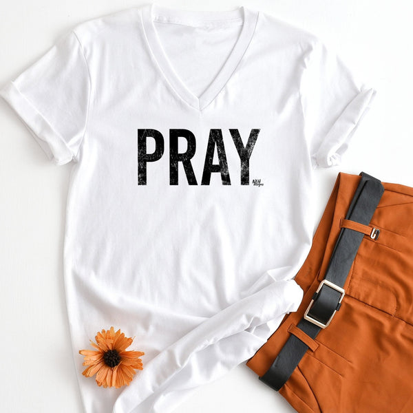 PRAY Short Sleeve T-Shirt - White