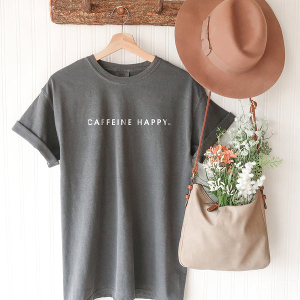 Caffeine Happy Comfort Colors Short Sleeve T-Shirt