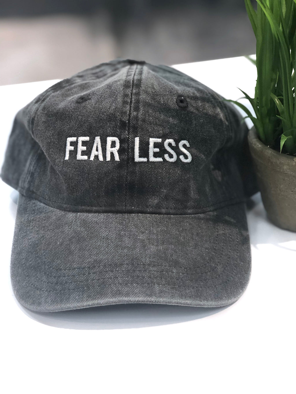 FEARLESS Baseball Hat Gray - Mineral Washed