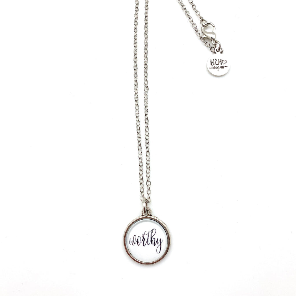 Simple Sentiment Necklace - Antique Silver