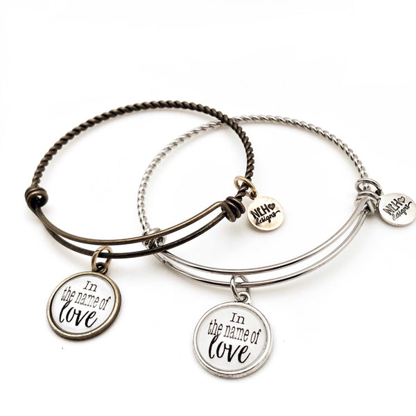 In the name of Love - Sentiment Bracelet