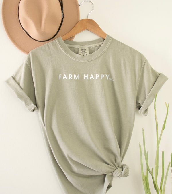Farm Happy Comfort Colors Short Sleeve T-Shirt
