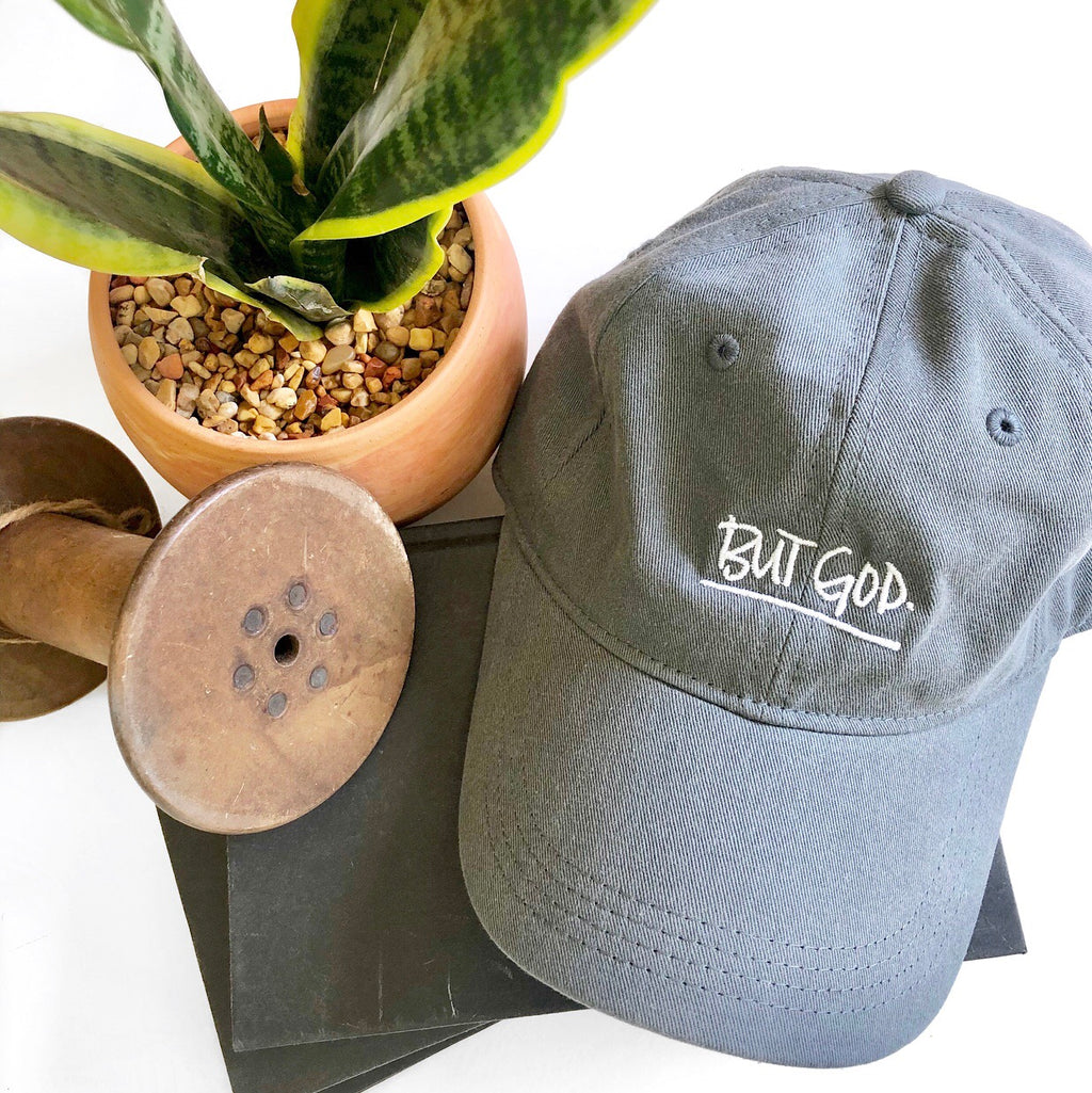 But God Baseball Hat - Gray