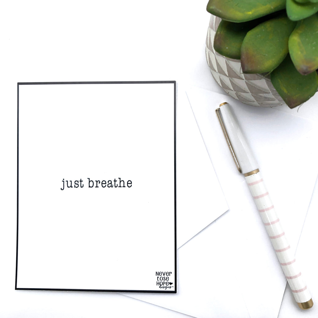 Just Breathe Notecard