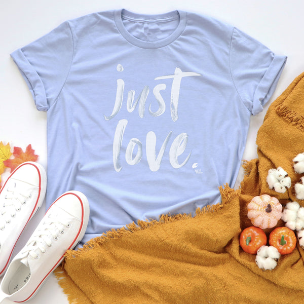 Just Love Heather Blue Short Sleeve T-Shirt