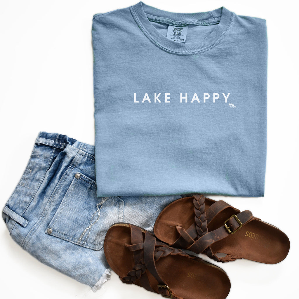 Lake Happy Comfort Colors Short Sleeve T-Shirt