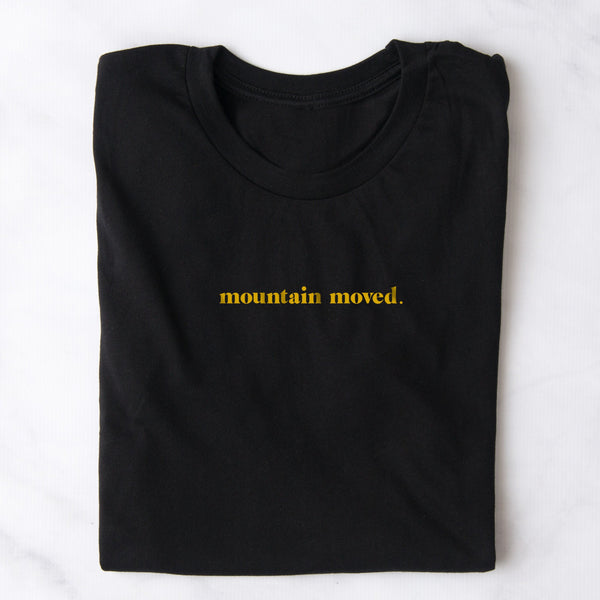 Mountain Moved Black Short Sleeve T-Shirt