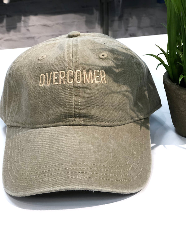 OVERCOMER Baseball Hat - Sand
