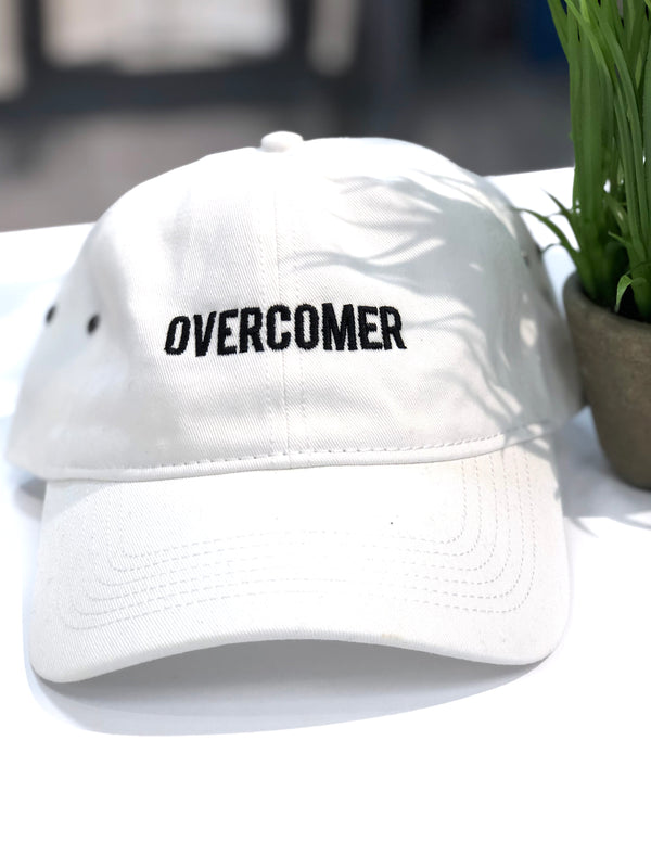 OVERCOMER Baseball Hat - White