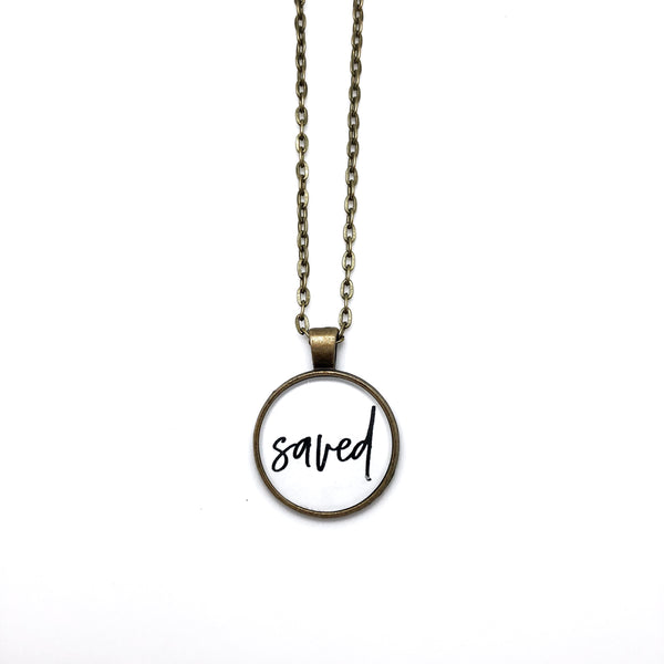 Saved Simply Stated Necklace