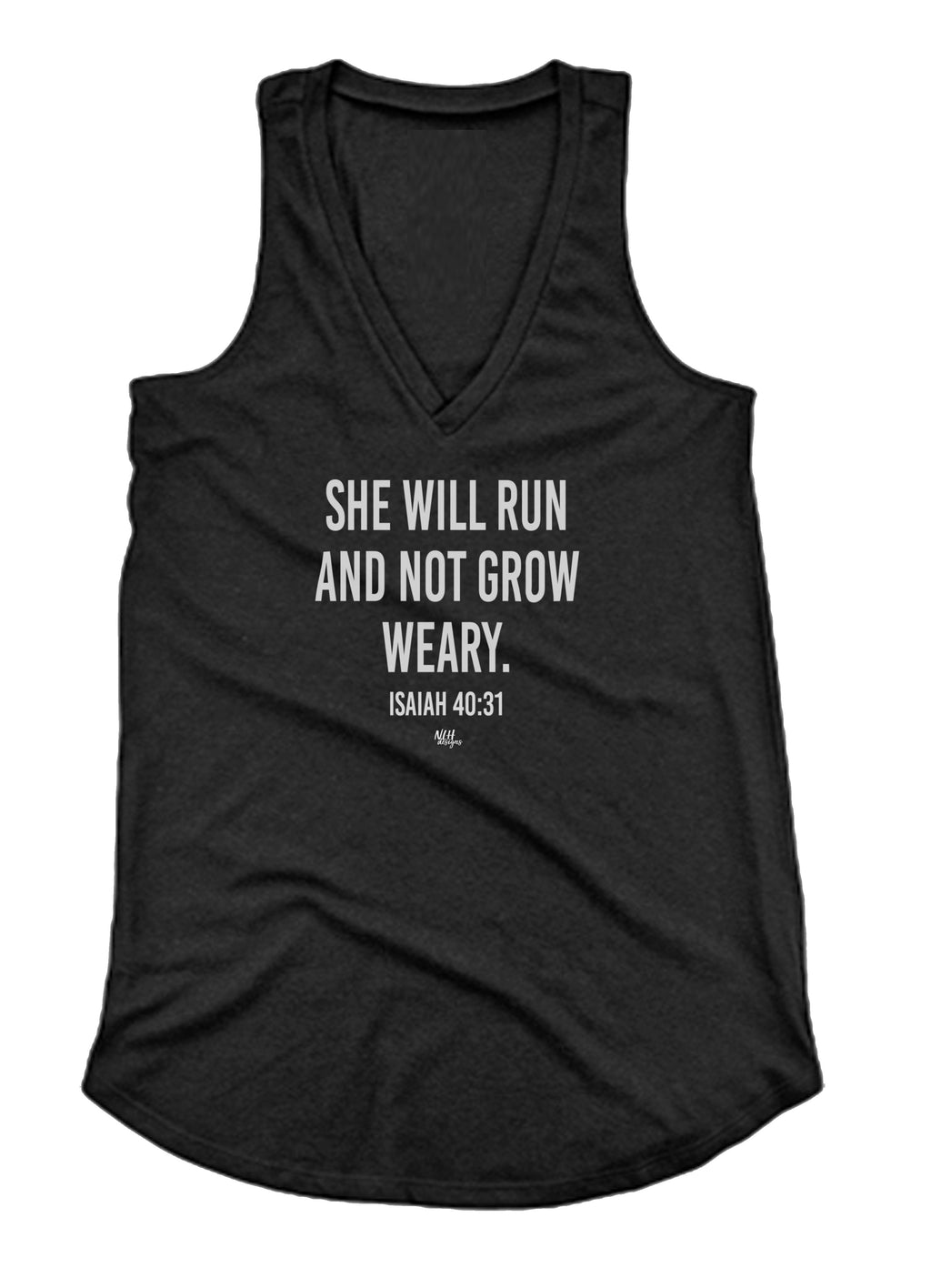 She Will Run and Not Grow Weary Loose Fit Tank Top