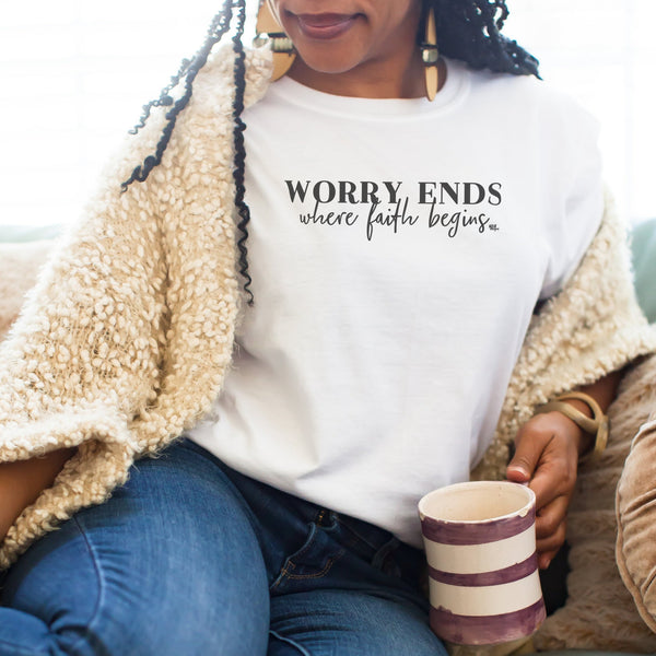 Worry Ends Where Faith Begins Short Sleeve T-Shirt