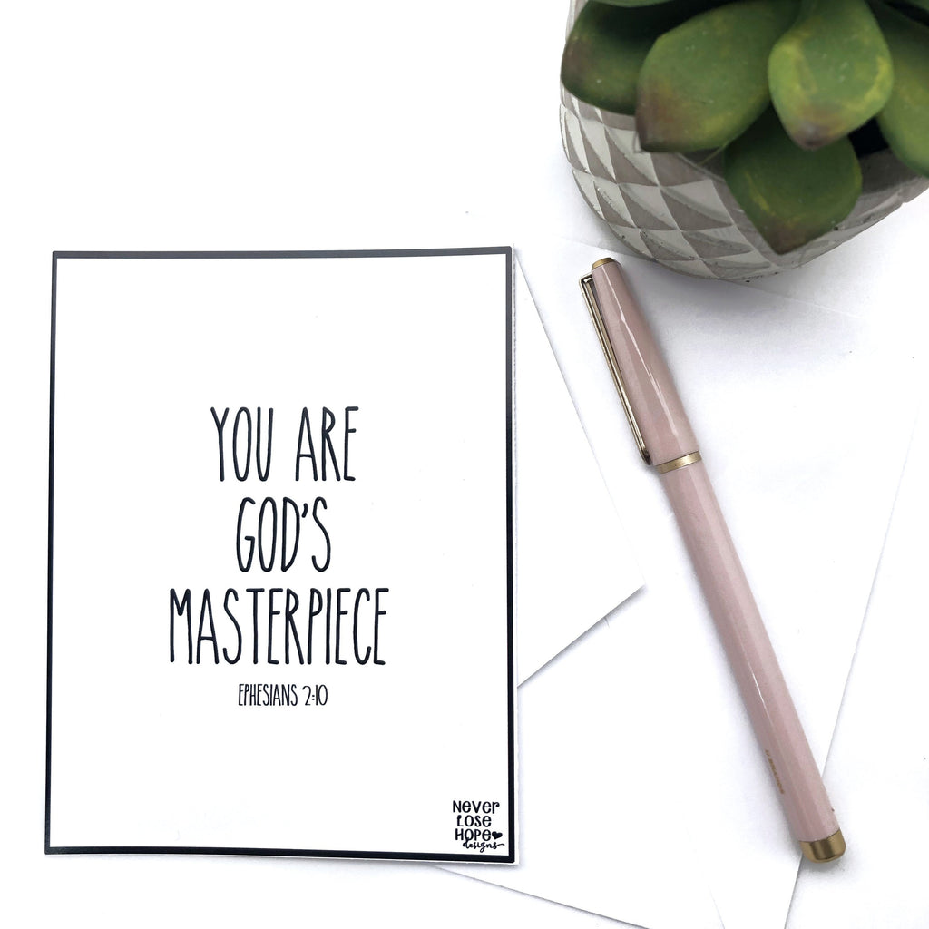You are God's Masterpiece Notecard