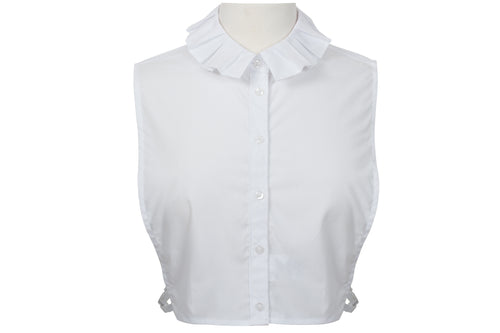 BLOUSE DICKEY PLEATED RUFFLE COLLAR