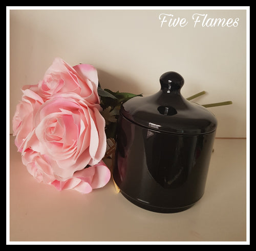 Black JUMBO knob jar!! Double wick candle