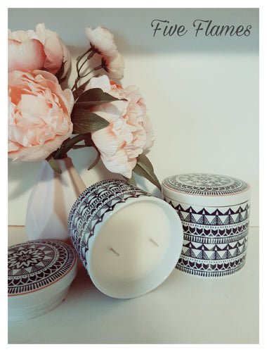 Aztec Glazed Jar double wick candles