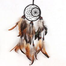 Brown Feathered Dream catchers.