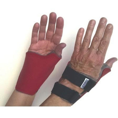 HARNESS Everyday Quad Cuff Gloves – Red Non-Marking - Push Mobility