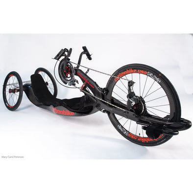 Carbonbike handcycle with carbon wheels - Push Mobility