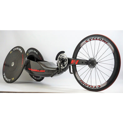 Carbonbike K1/K2 kneeling handcycle with carbon wheels - Push Mobility