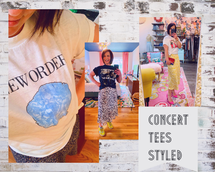 Your Old Concert Tees - Styling & Upcycling