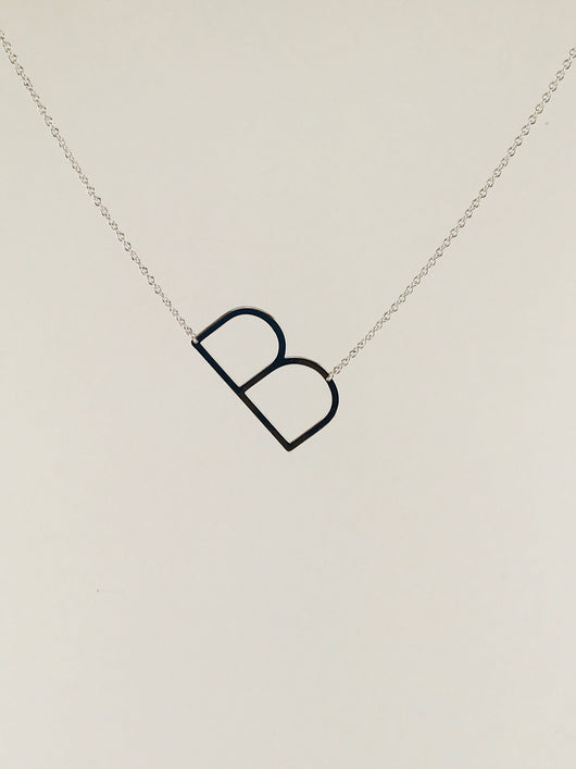 Sideways Initial Necklaces