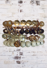 Erimish Stackable Bracelets, Chloe Collection