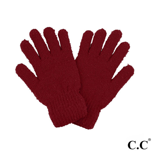 Boucle Yarn Smart Touch Gloves