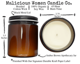 Malicious Women Candles - Fall / Holiday Collection
