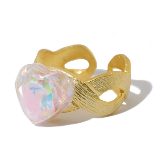Pink Opal Faith Ring
