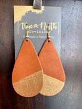 Hand Cut Leather Earrings, Perfect Sized Pear