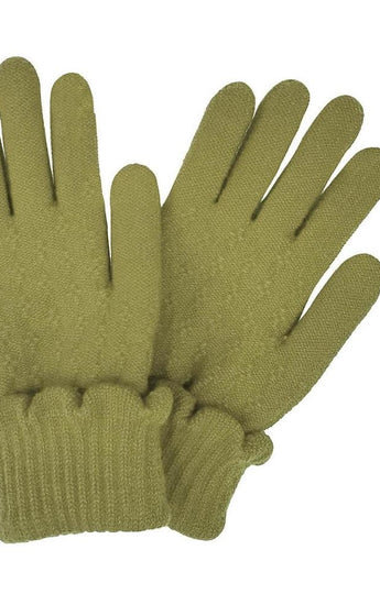 Scalloped Cuff Knit Gloves