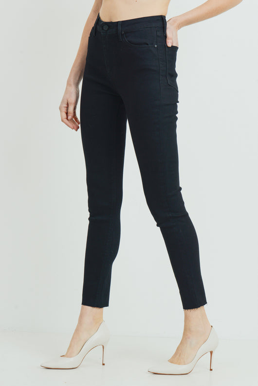 Just Black Denim Scissor Cut Skinny in Black