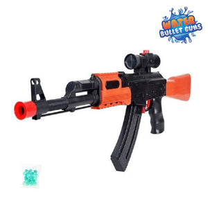 AK47 Water Bullet Gun (Also Shoots Foam Bullets), Top Loaded Water Bullet Dispenser Model