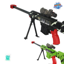 Barrette Rifle Water Bullet Gun Continuous Water Bullet Sniper Rifle Gun, Rechargeable, (Black or Green)