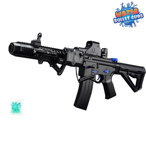 M4 Water Bullet Rifle Machine Gun, Rechargeable Full Auto Long Distance Electric Water Gun
