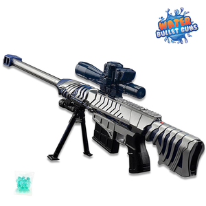 Barrette Rifle Black & Blue Water Bullet Gun Electric Water Gun Full Automatic Shooting Rifle