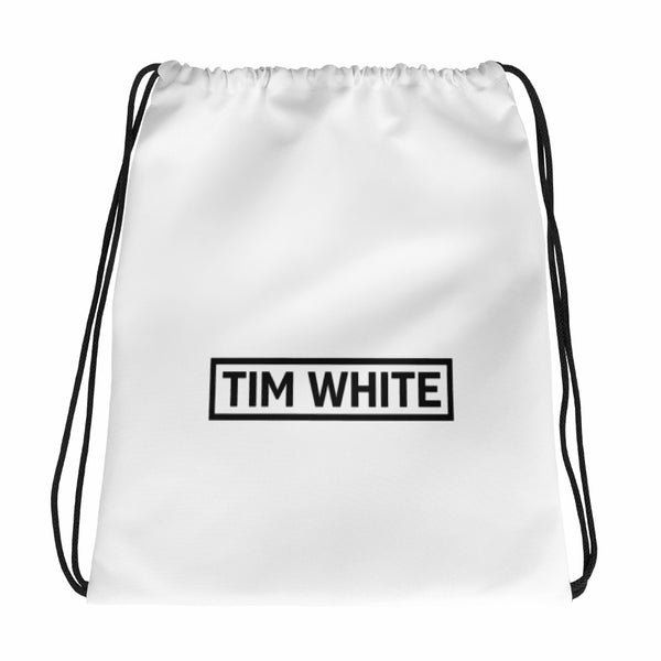 Tim White Alien Logo Drawstring Bag