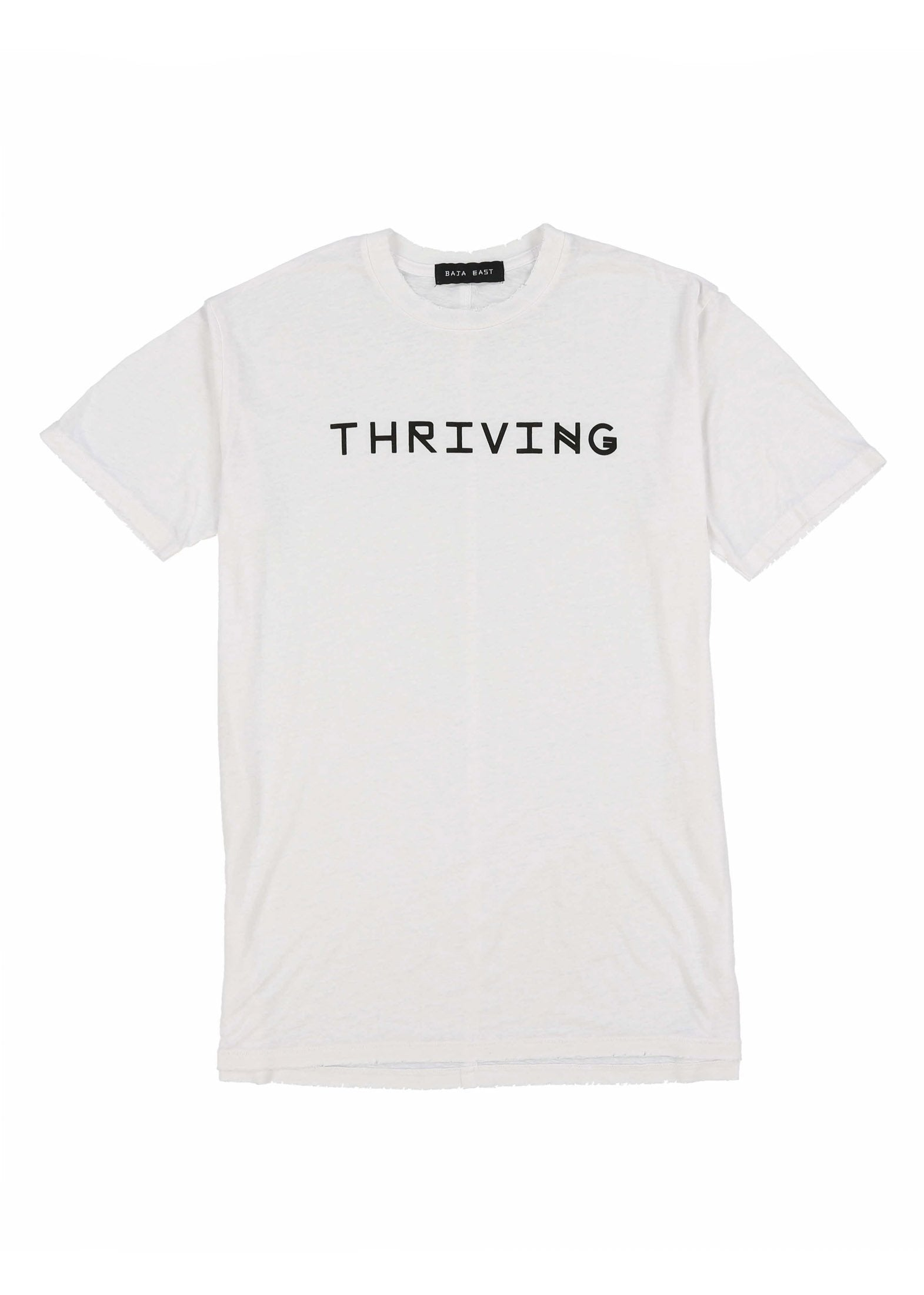 White Thriving Burn-out Tee